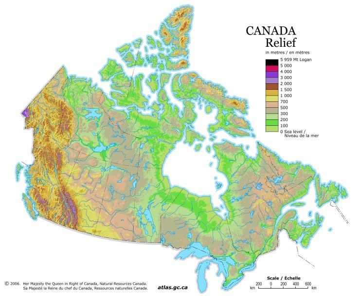 Канада находится на севере северо