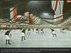 141 год назад в Монреале состоялся первый в истории  хоккейный матч  на крытом катке